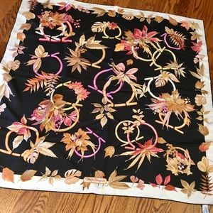 Salvatore ferragamo large silk scarf
